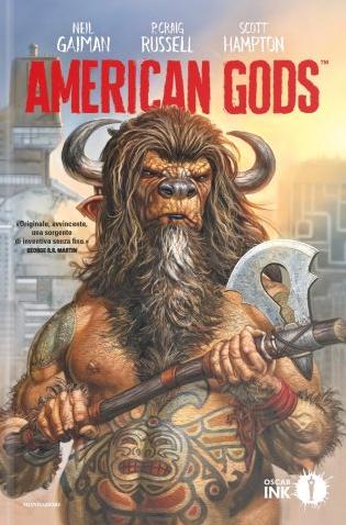copertina COMIXREVOLUTION-MONDADORI-OSCAR-INK-AMERICAN-GODS-9788804684053